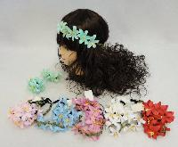 Floral Head Wreath with 5 Flowers